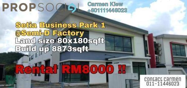 Factory For Rent in Setia Business Park, Johor Bahru Freehold Unfurnished 0R/0B 8k
