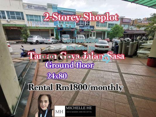 Shop For Rent in Taman Gaya, Ulu Tiram Freehold Unfurnished 0R/2B 1.8k