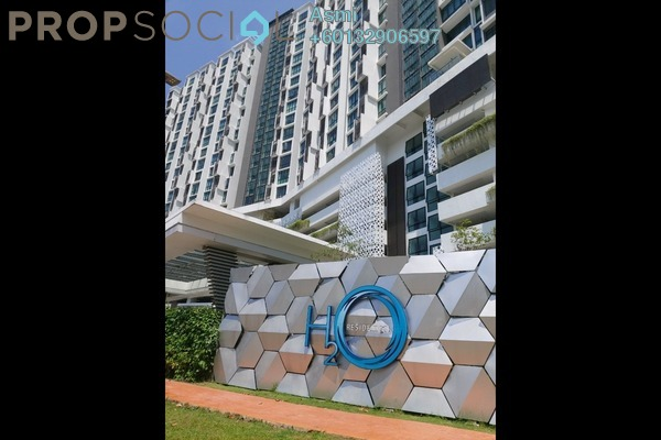 Condominium For Sale in H2O Residences, Ara Damansara Freehold Semi Furnished 3R/2B 609k