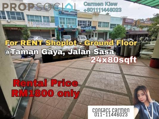 Shop For Rent in Taman Gaya, Ulu Tiram Freehold Semi Furnished 0R/1B 1.8k