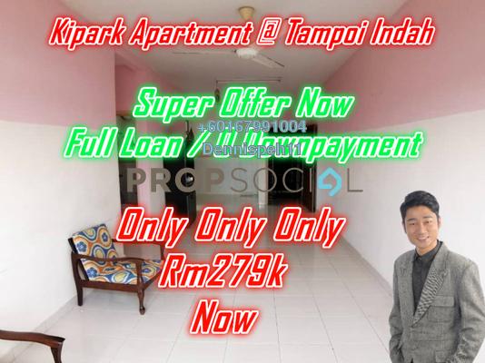 Apartment For Sale in KiPark, Johor Bahru Leasehold Unfurnished 3R/2B 278k