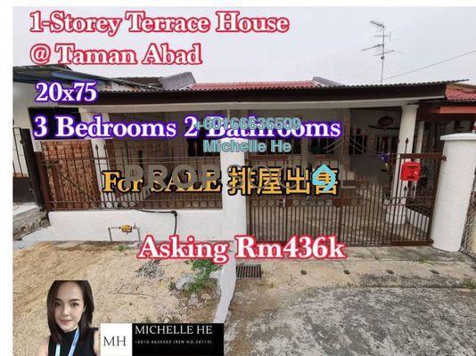 Terrace For Sale in Century Garden, Johor Bahru Freehold Unfurnished 3R/2B 436k