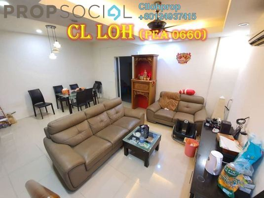 Terrace For Sale in Richmont Residences, Jelutong Freehold Semi Furnished 6R/6B 1.2m