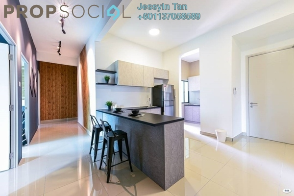 Condominium For Sale in The Leafz, Sungai Besi Freehold Fully Furnished 2R/2B 690k