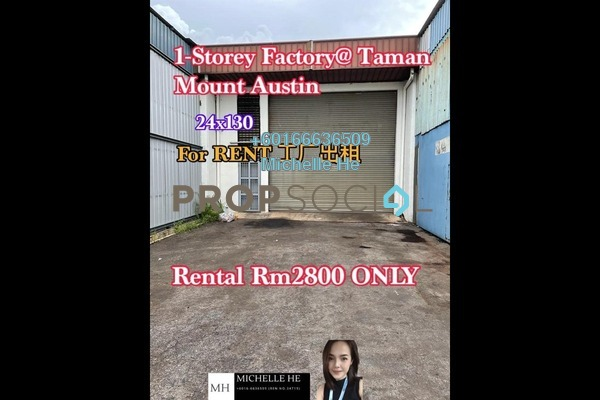 Terrace For Rent in Taman Mount Austin, Tebrau Freehold Unfurnished 0R/0B 2.8k