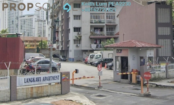 Condominium For Rent in Langkawi Apartment, Setapak Freehold Semi Furnished 3R/2B 1.6k