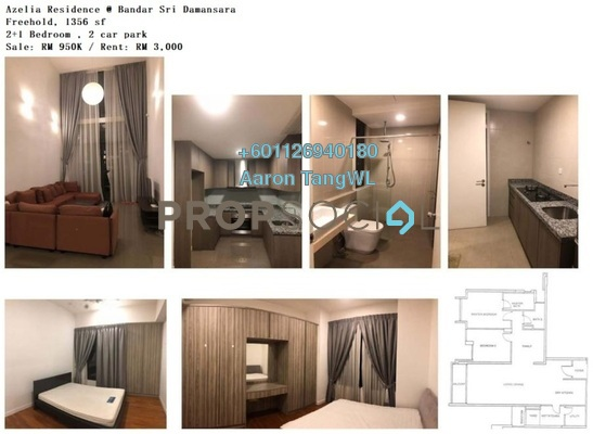 Condominium For Sale in Azelia Residence, Bandar Sri Damansara Freehold Fully Furnished 2R/2B 950k