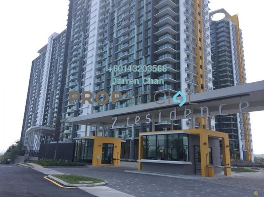 Condominium For Sale in The Z Residence, Bukit Jalil Freehold Semi Furnished 3R/2B 630k