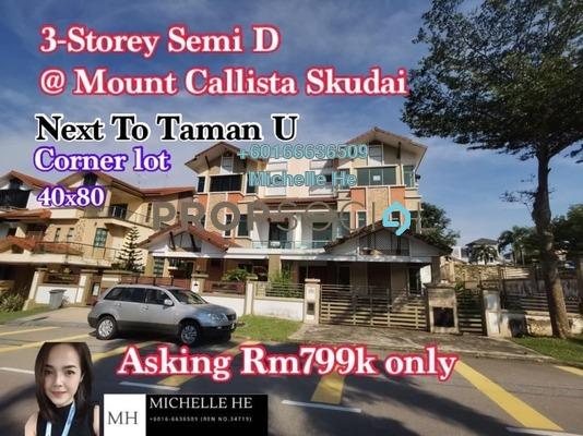 Semi-Detached For Sale in Taman Universiti, Skudai Freehold Unfurnished 6R/5B 799k