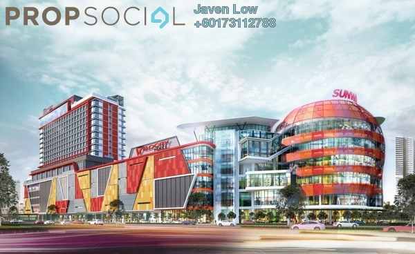 Condominium For Rent in V Residence 3 @ Sunway Velocity, Cheras Freehold Semi Furnished 3R/2B 3k
