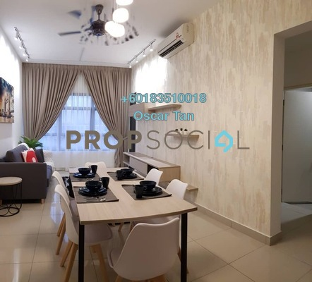 Condominium For Rent in Lakeville Residence, Jalan Ipoh Freehold Fully Furnished 3R/2B 1.9k