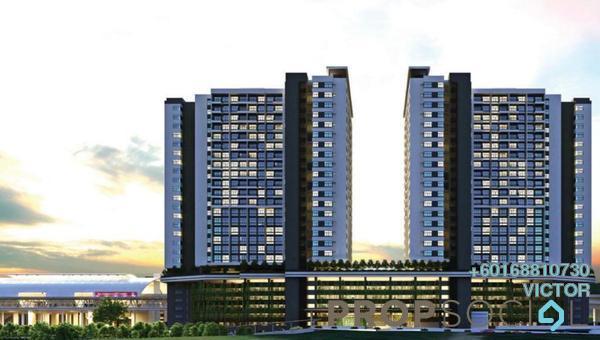 Condominium For Sale in Ara Sentral, Ara Damansara Freehold Semi Furnished 1R/1B 390k