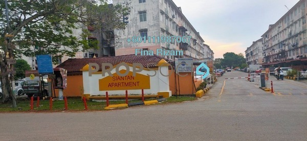 Apartment For Sale in Siantan Apartment, Puchong Freehold Semi Furnished 3R/1B 170k