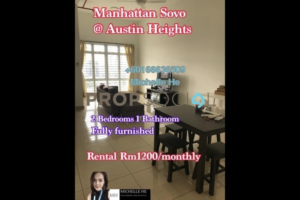 Apartment For Rent in Manhattan @ Austin Heights, Tebrau Freehold Fully Furnished 2R/1B 1.2k