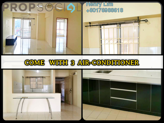 Condominium For Rent in Warisan Cityview, Cheras Freehold Semi Furnished 3R/2B 1.5k