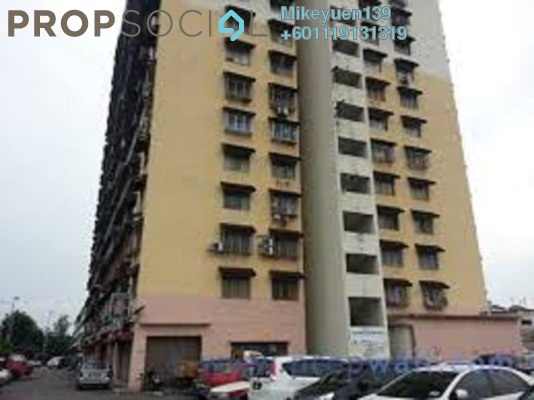 Apartment For Rent in Pandan Ria Apartment, Ampang Freehold Semi Furnished 3R/2B 750translationmissing:en.pricing.unit