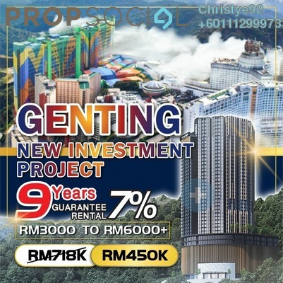 Serviced Residence For Sale in Grand Ion Majestic, Genting Highlands Freehold Fully Furnished 2R/1B 704k