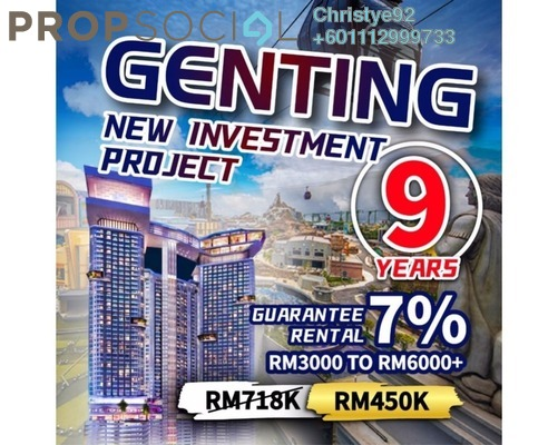Serviced Residence For Sale in Grand Ion Majestic, Genting Highlands Freehold Fully Furnished 1R/1B 480k