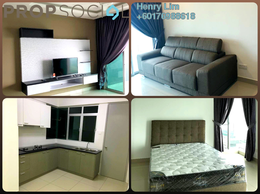 Condominium For Rent in Kiara Residence 2, Bukit Jalil Freehold Fully Furnished 3R/2B 2.2k