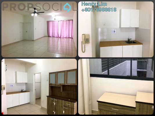 Condominium For Rent in You Residences @ You City, Batu 9 Cheras Freehold Semi Furnished 3R/2B 1.4k
