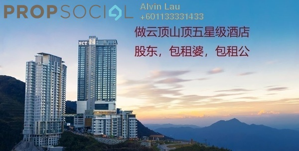 Serviced Residence For Sale in Grand Ion Majestic, Genting Highlands Freehold Fully Furnished 1R/1B 445k