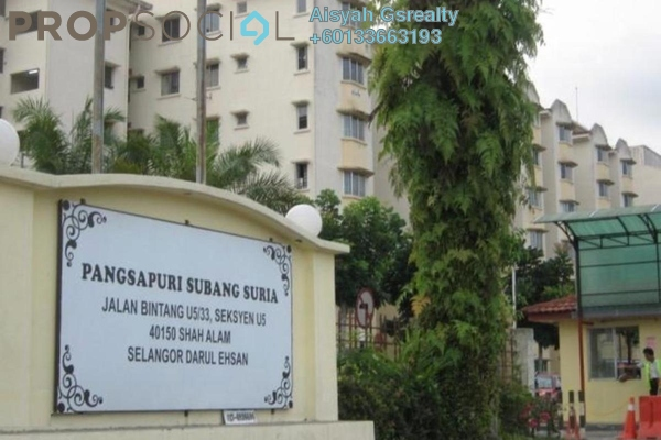 Apartment For Sale in Subang Suria, Subang Freehold Unfurnished 3R/2B 235k
