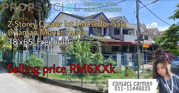 Terrace For Sale in Taman Mount Austin, Tebrau Freehold Semi Furnished 4R/3B 639k