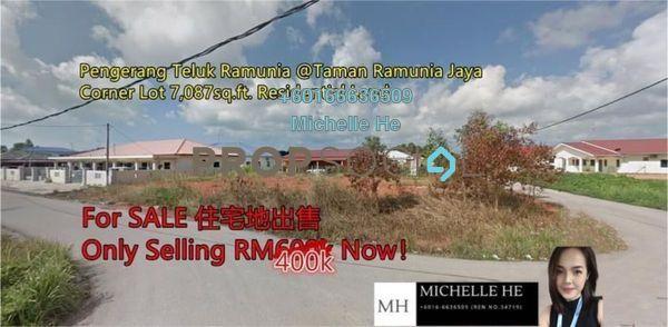 Land For Sale in Kampung Teluk Ramunia, Pengerang Freehold Unfurnished 0R/0B 400k