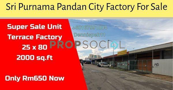 Factory For Sale in Seri Purnama Industrial Park, Johor Bahru Freehold Unfurnished 0R/0B 650k