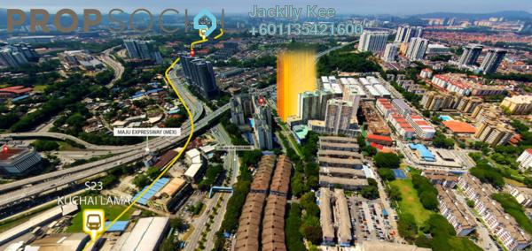 Condominium For Sale in Kuchai East, Kuchai Lama Freehold Semi Furnished 3R/2B 510k