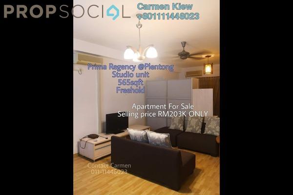 Apartment For Sale in Prima Regency, Johor Bahru Freehold Fully Furnished 0R/1B 203k