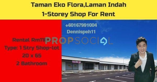 Shop For Rent in Taman Setia Indah, Johor Bahru Freehold Unfurnished 0R/2B 1.1k