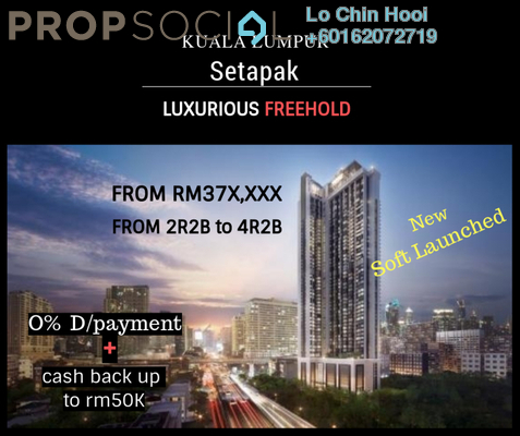 Serviced Residence For Sale in KL Traders Square, Kuala Lumpur Freehold Unfurnished 2R/2B 385k