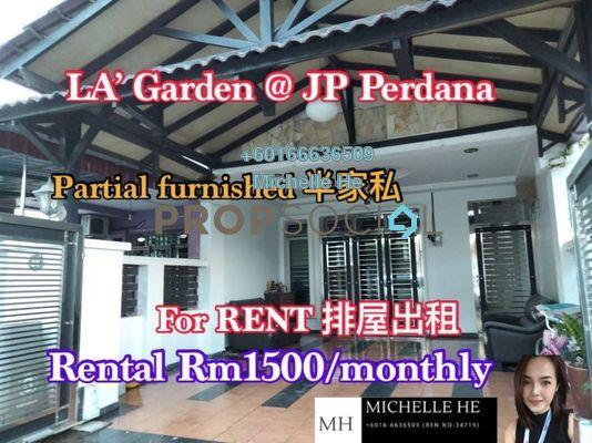 Terrace For Rent in JP Perdana, Johor Bahru Freehold Semi Furnished 4R/3B 1.5k