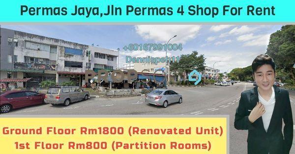 Shop For Rent in Taman Permas Jaya, Bandar Baru Permas Jaya Freehold Unfurnished 0R/0B 1.8k