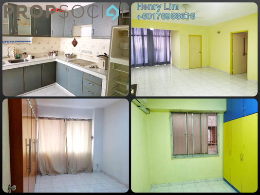 Condominium For Rent in Ixora Apartment, Pudu Freehold Semi Furnished 3R/2B 1.5k