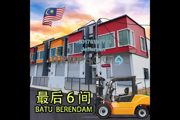 Factory For Sale in Taman Merdeka Jaya, Batu Berendam Freehold Unfurnished 0R/2B 438k