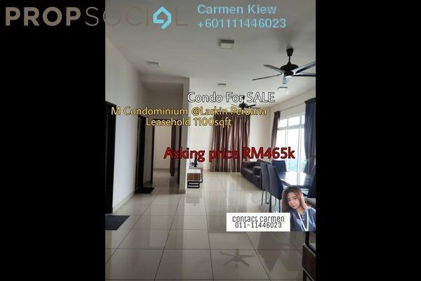 Condominium For Sale in M Condominium, Johor Bahru Freehold Fully Furnished 3R/2B 465k