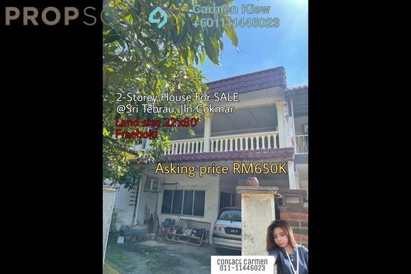 Terrace For Sale in Taman Sri Tebrau, Johor Bahru Freehold Unfurnished 4R/3B 650k