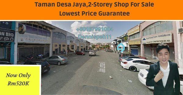 Shop For Sale in Taman Desa Jaya, Johor Bahru Freehold Unfurnished 0R/4B 520k