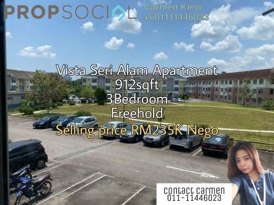 Apartment For Sale in Vista Seri Alam, Bandar Seri Alam Freehold Fully Furnished 3R/2B 235k