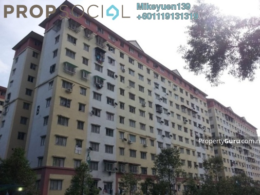 Apartment For Sale in Segar Ria Apartment, Cheras Freehold Unfurnished 3R/2B 120k