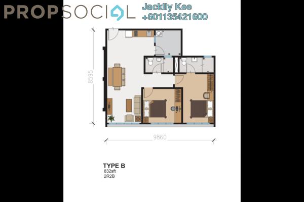 Condominium For Sale in 216 Residences, Kuchai Lama Freehold Semi Furnished 2R/2B 463k