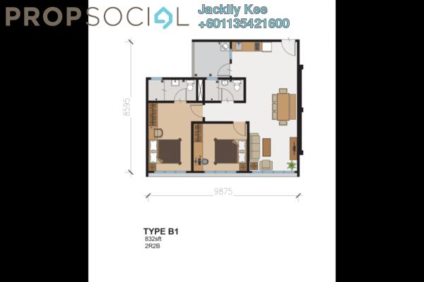 Condominium For Sale in 216 Residences, Kuchai Lama Freehold Semi Furnished 2R/2B 468k