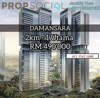 Serviced Residence For Sale in Mossaz, Damansara Perdana Leasehold Unfurnished 2R/2B 270k