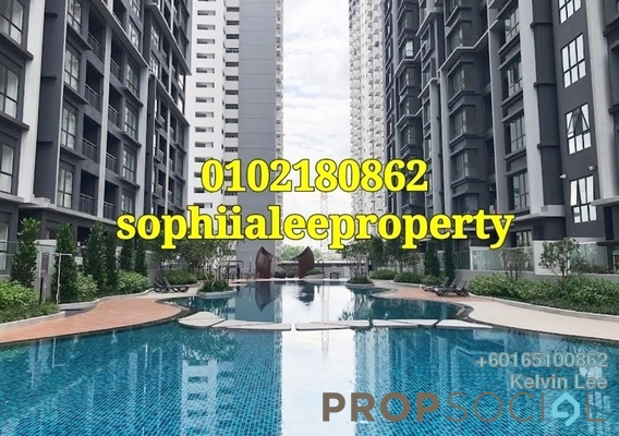 Condominium For Rent in The Holmes 2, Bandar Tun Razak Freehold Semi Furnished 3R/2B 1.6k