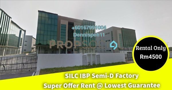 Factory For Rent in IBP @ SiLC Nusajaya, Iskandar Puteri (Nusajaya) Freehold Unfurnished 0R/4B 4.5k