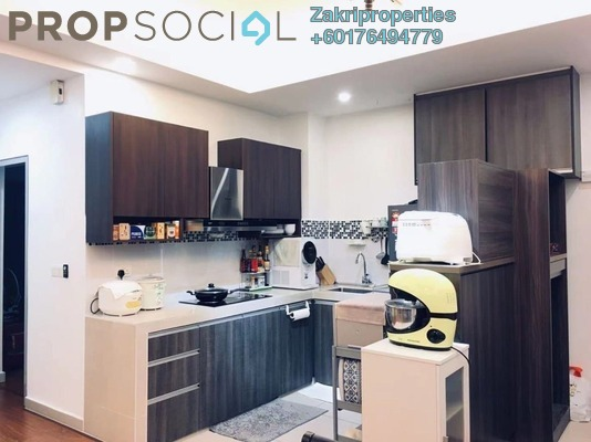 Condominium For Rent in The Wharf, Miri Freehold Semi Furnished 2R/2B 1.35k