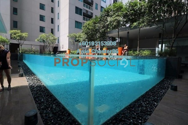 Condominium For Sale in Summer Suites, KLCC Freehold Semi Furnished 0R/1B 480k