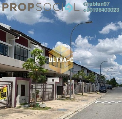 Terrace For Sale in Cogan, Bandar Bukit Raja Freehold Unfurnished 4R/3B 660k